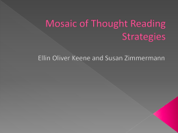 Mosaic of Thought Reading Strategies