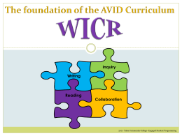 Using the WICR Method - PowerPoint