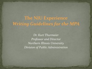 Capstone Writing - Dr. Thurmaier