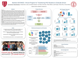 the poster - Stanford Biosciences PhD Programs