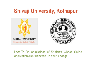 Form submission & Confirm Admission Process