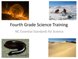Fourth Grade Science Training - WCPSS Elementary Science Wiki