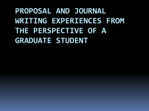 Student Perspective on Paper and Proposal Writing