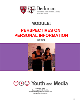 Perspectives on Personal Information – PPT