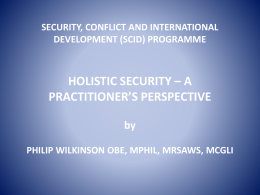 Holistic Security – Phil Wilkinson