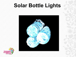 Solar Bottle Lights.