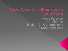 Peterson- Cross Country