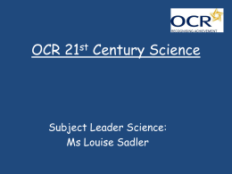 OCR 21st Century Science for parents