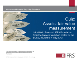 Quiz: Assets: fair value measurement