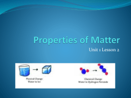 What are physical properties of matter?