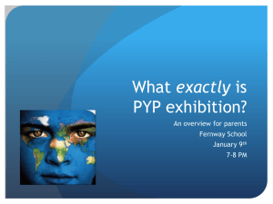 Exhibition PPT for 4th grade parents