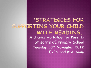 Phonics workshop ppt - St John`s CE Primary School