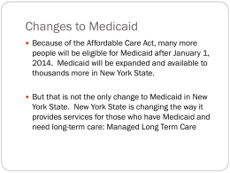 Affordable Care Act - Legal Services for the Elderly, Disabled and