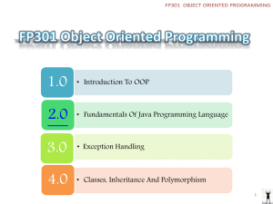 FP301 Object Oriented Programming