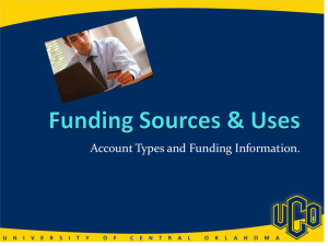 Funding Source Presentation - University of Central Oklahoma