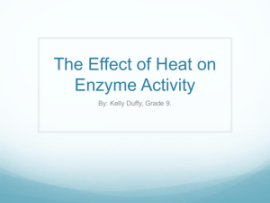 The Effect of Heat on Enzyme Activity
