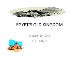 EGYPT*S OLD KINGDOM