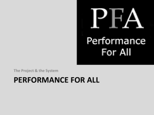 Demonstrating Goals - Performance For All