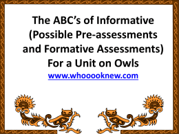Formative Assessment and Differentiated Instruction