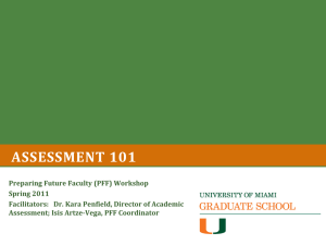 Assessment 101 - University of Miami