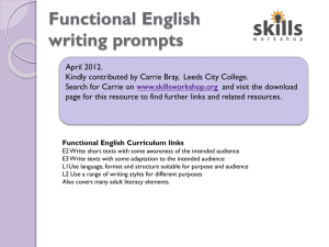 E2-L2 Functional Writng prompts