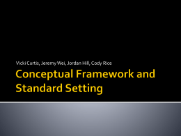 Conceptual Framework and Standard Setting
