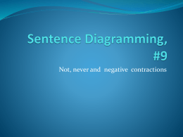 Sentence Diagramming, Contractions