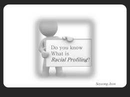 Racial Profiling - internationalspeech