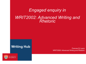 WRIT2002: Advanced Writing and Rhetoric