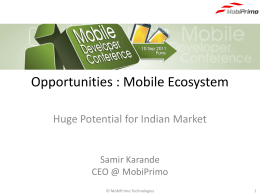Opportunities : Mobile Ecosystem