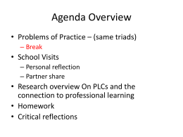 Research – Professional Learning Communities