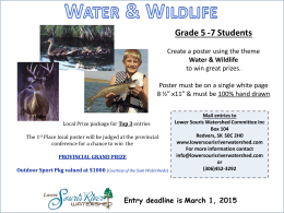 Poster_2015 - Lower Souris Watershed