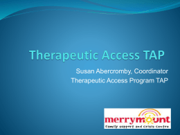 Susan Abercromby-Therapeutic Access