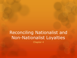 Reconciling Nationalist and Non
