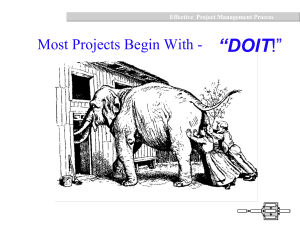 Effective Project Management Process