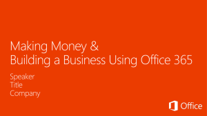 Make Money with the new Office