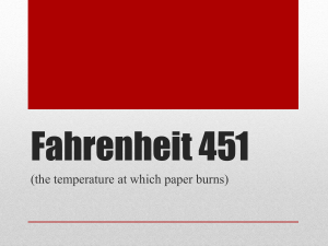 Fahrenheit 451: Test Review slides 12-15