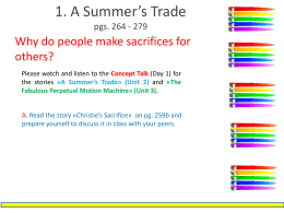 A Summer`s Trade_prereading_activities