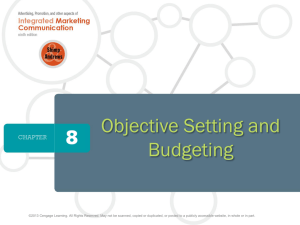 Marcom Objective Setting and Budgeting