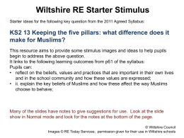 Islam: Keeping the five pillars - starter activity