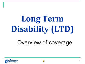 Long Term Disability coverage