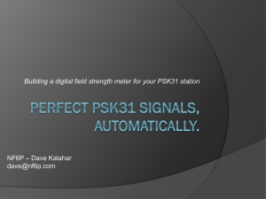 Perfect PSK31 Signals, Automatically. Building a