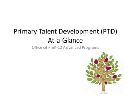 Primary Talent Development At-a