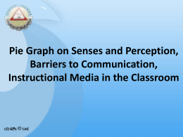 Pie Graph on Senses and Perception, Barriers to