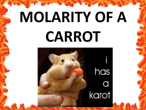 MOLARITY OF A CARROT