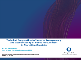 The EBRD Legal Transition Programme