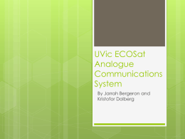 UVic ECOSat Analogue Communications System