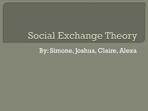 Social Exchange Theory- power point - Ms