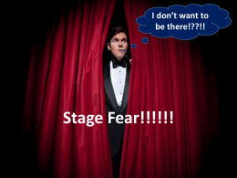 Hints to remove the stage fear