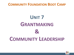 Grantmaking & Community Leadership